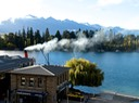 Lake steamship at Queenstown dock