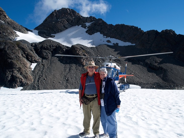 Photographer and spouse near Mt. Cook